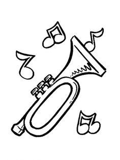 Coloring Page Musical Instruments Musical Instruments On Kids N Fun Co Uk On Kids N Fun You Will Alw Em 2020 Brincadeiras Para Criancas Trompete Instrumentos Musicais