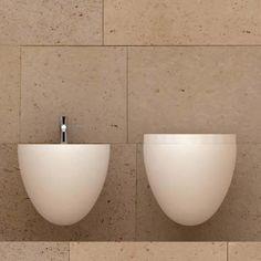 Claudio silvestrin. Minimal toilet & bidet.