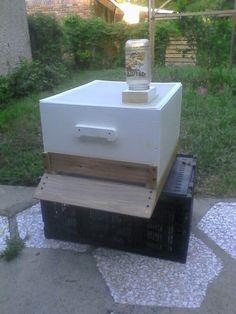 New bee hive half done
