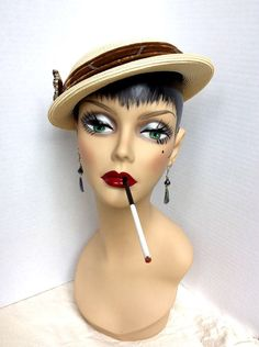 Vintage mannequin head flapper girl art deco bust by studiopink