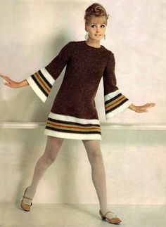 60's Fashion. I actually had a dress very similar to this. Not the same type of fabric but this style.