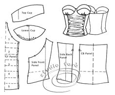A glimpse of what you get at Studio Faro Workshops - Corset Patterns Workshop - book online - http://www.studiofaro.com/introductory/cbpd-corset-block-and-pattern-development