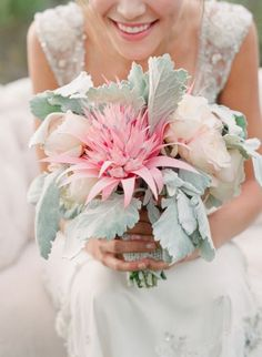 Here are ten wedding flower bouquets that we are absolutely loving and adoring! :)We hope these inspire and inform your journey to find the perfect bridal bouquet for your wedding day. Chosenwith love & style from: Our Editorial StaffPhoto Credits:Green Wedding ShoesStyle Me Pretty Ruffled Blog Wedding Chicks Wedding Sparrow 100 Layer Cake Fab You Bliss Junebug Weddings