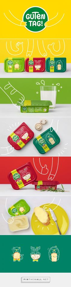 Guten Tag! Cheese Spreads Packaging designed by Fabula Branding - http://www.packagingoftheworld.com/2015/10/guten-tag.html