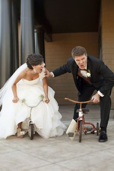I MUST have silly pictures like this, maybe minus the wedding attire :)
