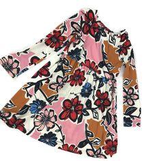 Hanna Andersson Girl's Dress 130 US 8 Multi Color Modern Floral Print Cotton #HannaAndersson #Dress