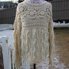 Aran Sweaters for Women   gorgeous-hand-knitted-handmade-cream-aran-fisherman-sweater-for-women ...