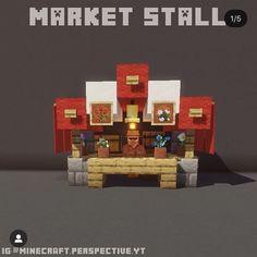 Minecraft Market, Minecraft Cottage, Cute Minecraft Houses, Minecraft House Tutorials, Minecraft Castle, Minecraft Medieval, Minecraft Plans, Minecraft House Designs, Amazing Minecraft