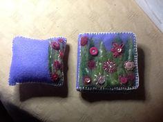 Needle felted needle case and pin cushion