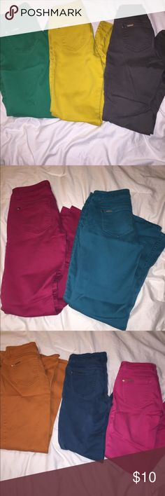 Individual Colored Skinny Jeans Make sure to specify which color you want when choosing size! Celebrity Pink Jeans Skinny