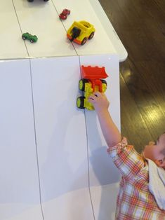 DIY Ramps and Cars for Toddlers by Teach Preschool