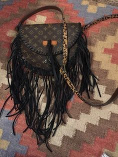 AUTHENTIC UPCYCLED LOUIS VUITTON WITH FRINGE! #LouisVuitton #MessengerCrossBody