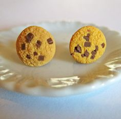 Chocolate Chip Cookie Food Earrings - Food Jewelry
