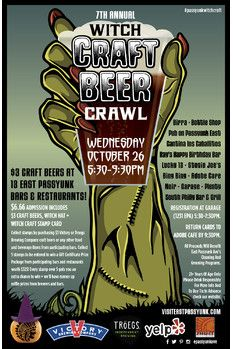 Don't miss the 7th annual Witch Craft Beer Crawl!  #visitphilly #craftbeer #philly #philadelphia