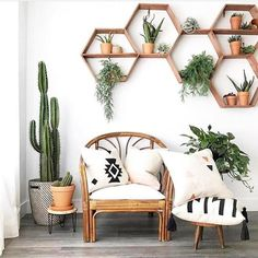Do you love this from leafandpaige - can you recognize the aerial plants , , . - HOME SWEET HOME - - - House Plants Decor, Plant Decor, Living Room Decor With Plants, Living Room White Walls, Green Wall Decor, Wall Shelf Decor, White Wall Decor, Wall Shelves Design, Interior Design Living Room