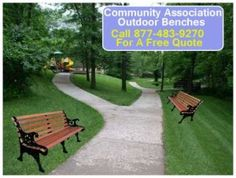 A community association project, such as new park benches, is usually funded by residents in one way or another. Maybe the money comes from home owner association dues, or maybe it's raised through neighborhood garage and bake sales. Wherever it originates from, the community association benches that you buy have to be a good investment.