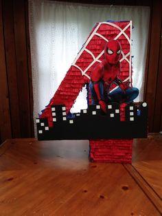 Piñata Styrofoam Art, Fiesta Mickey Mouse, Party Themes For Boys, Twin Birthday, Ideas Para Fiestas, 4th Birthday Parties, Baby Party, Birthday Decorations, Spider Man Birthday