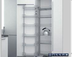 #cocinas Tipos de muebles para organizar tu cocina. Columna extraible