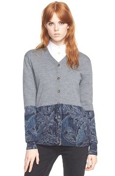 MARC BY MARC JACOBS 'Acanthus' Printed Button Cardigan available at #Nordstrom