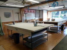 30-Minutes with Workroom Tech: Building a Worktable podcast Rowley Company, Osb Plywood, Acoustic Ceiling Tiles, Plain Canvas, How To Make Curtains, Shades Blinds, Window Dressings, Wood Shelves, Soft Furnishings
