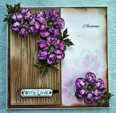 Sheena Victorian Floral Anemone Stamp Set. Sheena Victorian Floral Anemone Die Set. @CraftersCompUS