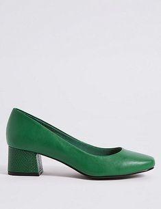 9a1df2b474c40e Block heel green court shoes