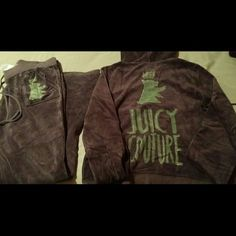100% AUTHENTIC JUICY COUTURE VELOUR SWEAT SUIT 100% Authentic Juicy couture Sweat Suit!! Like new.. worn a few times. Love this sweat suit but unfortunately it doesn't fit me anymore. Juicy Couture Jackets & Coats
