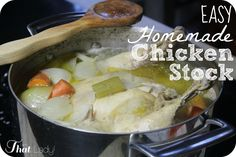 At the base of every good soup is a fantastic chicken stock! Most people don't know how easy it is to make your own! Here is the easiest and BEST HOMEMADE CHICKEN STOCK RECIPE!