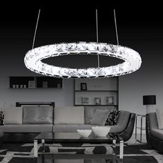 BYB® Crystal Modern Crystal Chandelier Ceiling Light Fixture Lighting, L60*W20*H70, 8 Flower Lights, Free Shipping, X662