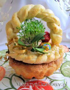 Koszyczek wielkanocny drożdżowy - przepisy kulinarne Poland, Pineapple, Cooking Recipes, Easter, Fruit, Kitchen, Food, Bakery Business, Cooking