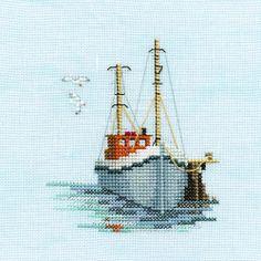 Derwentwater   Derwentwater Designs FISHING BOAT Minuet Cross Stitch Kit