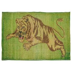 Vintage Turkish Pictorial Lion Rug | From a unique collection of antique and modern turkish rugs at https://www.1stdibs.com/furniture/rugs-carpets/turkish-rugs/