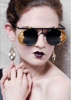 オシャレすぎるサングラス En Vie Magazine features Mercura Golden Girl Moon Sunglasses February 2014 style by Sophia Bonny