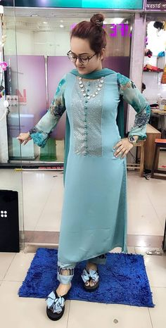 Discover thousands of images about Kurti New Kurti Designs, Kurta Designs Women, Kurti Designs Party Wear, Dress Neck Designs, Designs For Dresses, Blouse Designs, Pakistani Dress Design, Pakistani Dresses, Indian Dresses