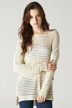 Knit Gabriella Pullover in Ivory on Gold