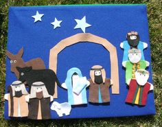 Felt Finger Puppet  Nativity Scene by CarolsImagination on Etsy, $20.00