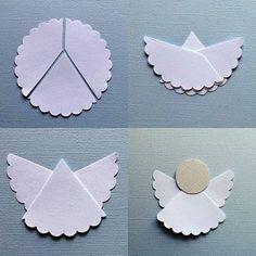Easy engeltjes, ook van papieren kanten onderzetters ? Eventueel verstevigen met glitter modpodge.