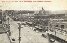 USA PC Main Street View from Top of Whittington Hotel, Ardmore, Oklahoma (2249)