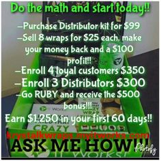 Work from home! It Works! Krystalkwraps.myitworks.com Ask me how! Follow me on fb @ wrapping.rocks #business #home #income #health #fitness #moms #body #hair #nails #birthday  Be your own boss today!!