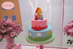 Peppa Pig birthday party cake! See more party planning ideas at CatchMyParty.com!