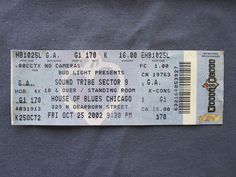 Sound Tribe Sector 9, House of Blues, 10/25/2002, 16.00