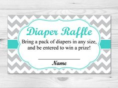 Diaper Raffle Ticket - Printable Diaper Raffle Card: pink, grey, chevron, baby girl Diaper Raffle Ticket is x 2 size. Formatted to print 10 Pack Of Diapers, Grey Chevron, Pink Grey, Diaper Raffle Tickets, Baby Sprinkle, Cardio, Baby Boy, Names, Printables