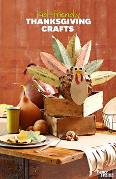 Your kids will love these easy-to-make Thanksgiving crafts: http://www.bhg.com/thanksgiving/crafts/easy-thanksgiving-kids-crafts/?socsrc=bhgpin111513thanksgivingcrafts