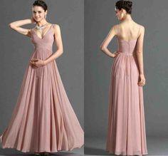 Blush Chiffon Bridesmaid Dresses