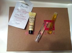 Dec Birchbox. Not impressed. Some face cream, hair oil, perfume sample. The eye primer works very well though! I also got an oatmeal bar. Was not aware that they also included food items.