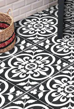 Vinyl Floor Tile Sticker Floor decals Carreaux von QUADROSTYLE