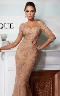 00c97699e3 Embroidered Slim Gown by Janique JQ3501 Elegant Outfit