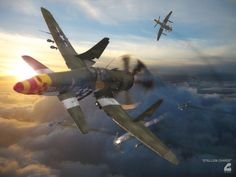 Stallion Charge by RobCaswell.deviantart.com on @DeviantArt Concept Ships, Concept Cars, Fighter Aircraft, Fighter Jets, Me262, Airplane Art, Supermarine Spitfire, Alternate History, Aircraft Design