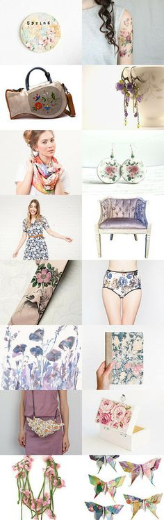 Floral Spring by Dorota on Etsy--Pinned with TreasuryPin.com