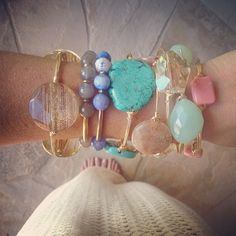 Do you bangle?! #bourbonandboweties #doyoubangle #armswag #armcandy #armparty #original #fab #trend #turquoise #tassle #jade #maj #instafab #instastyle #jewelry